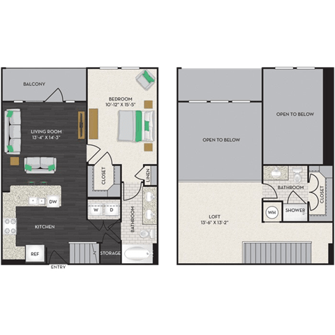 Floor Plan  Floorplan at Midtown Houston by Windsor, Houston, 77002