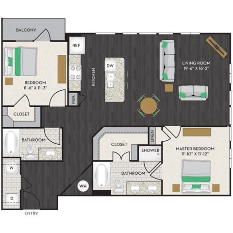 Floor Plan  Floorplan  at Midtown Houston by Windsor, Texas
