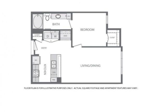 Floor Plan  Floorplan at Windsor at West University, 2630 Bissonnet Street, 77005