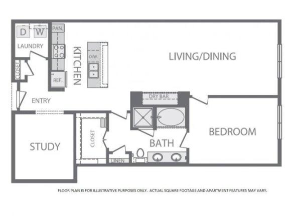 Floor Plan  Floorplan at Windsor at West University, 2630 Bissonnet Street, Houston, TX, opens a dialog