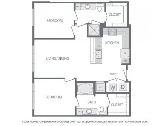 Floor Plan  Floorplan at Windsor at West University, 2630 Bissonnet Street, Houston, 77005