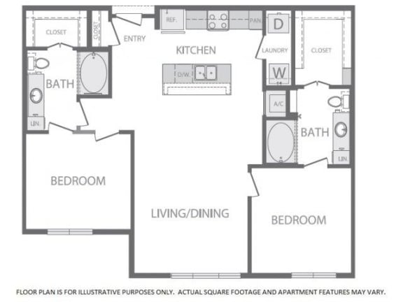 Floor Plan  Floorplan at Windsor at West University, TX 77005