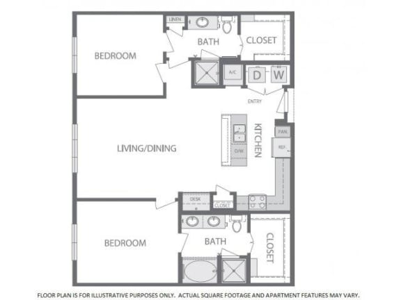 Floor Plan  Floorplan at Windsor at West University, Houston, TX 77005
