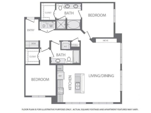 Floor Plan  Floorplan at Windsor at West University, Houston, 77005