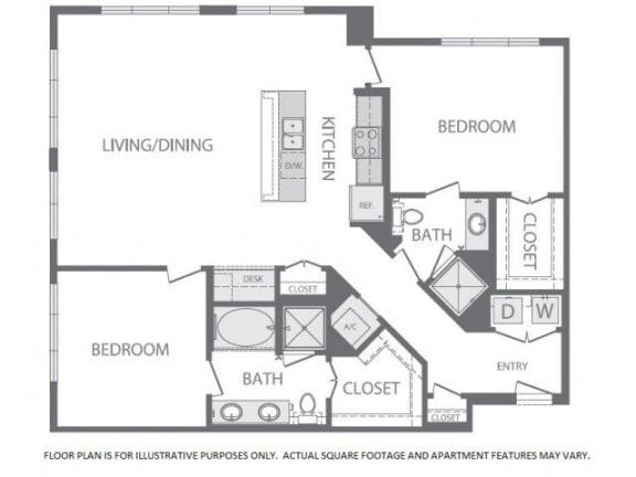 Floor Plan  Floorplan at Windsor at West University, Houston, TX, opens a dialog