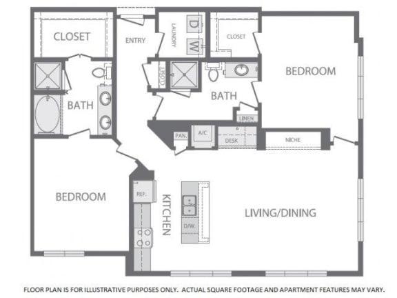 Floor Plan  Floorplan at Windsor at West University, 2630 Bissonnet Street, Houston, TX 77005