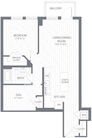 A2 Floor Plan at Element 28, Bethesda, Maryland