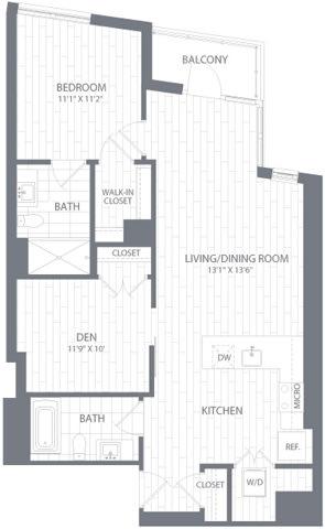 A3 Floor Plan at Element 28, Bethesda, 20814