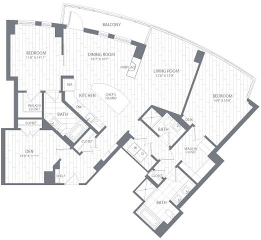 B4 Floor Plan at Element 28, Maryland