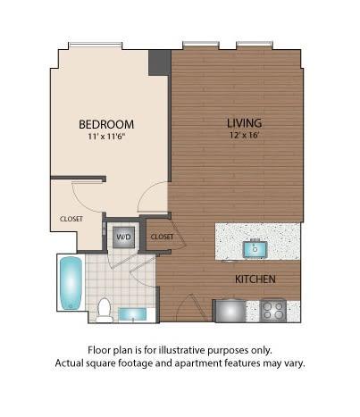 Floor Plan  A1 Floorplan at The Victor