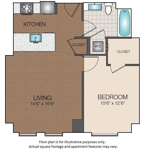 Floor Plan  A1c Floorplan at The Victor
