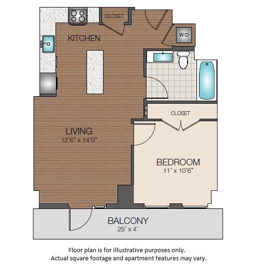 Floor Plan  A1d Floorplan at The Victor