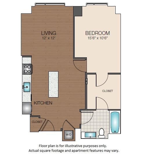 Floor Plan  A2 Floorplan at The Victor