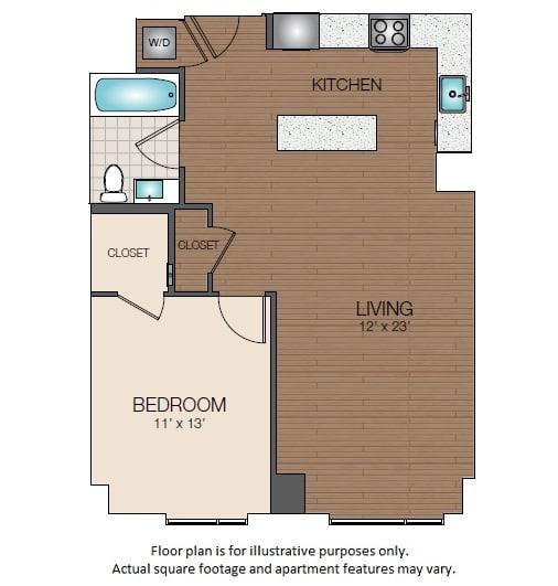 Floor Plan  A2b Floorplan at The Victor