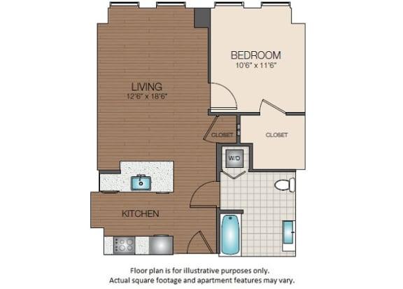 Floor Plan  A3 Floorplan at The Victor