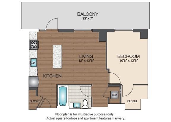 Floor Plan  A3b Floorplan at The Victor