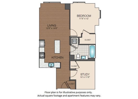 Floor Plan  A4 Floorplan at The Victor