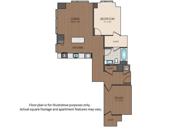 Floor Plan  A4b Floorplan at The Victor