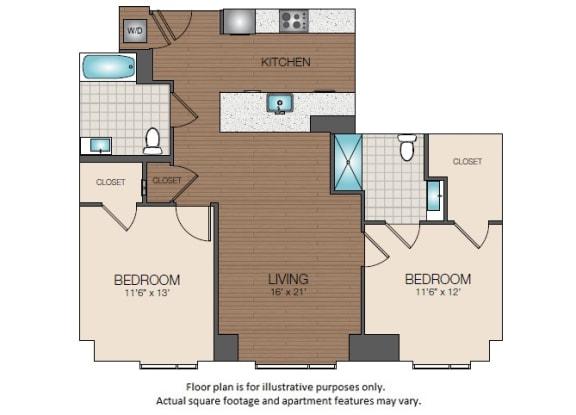 Floor Plan  B1b Floorplan at The Victor