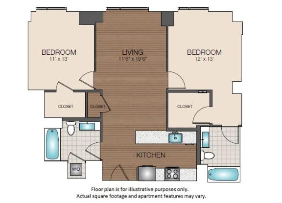 Floor Plan  B1c Floorplan at The Victor
