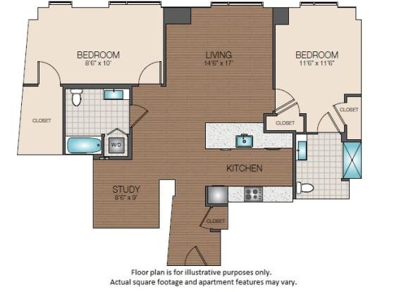 Floor Plan  B4b Floorplan at The Victor