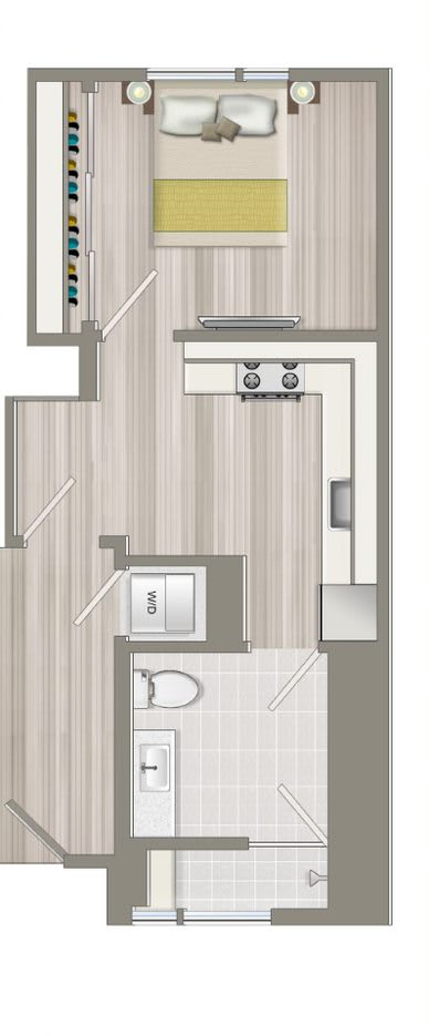 Floor Plan  Furnished One Bedroom Deluxe Suite