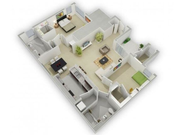 Floor Plan  The Henderson Floorplan at Algonquin Square Apartment Homes, Algonquin, IL 60102