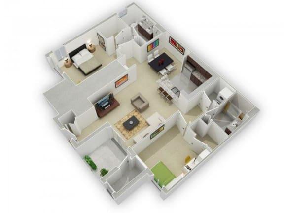 Floor Plan  The Jackson Floorplan at Algonquin Square Apartment Homes, Algonquin, IL 60102