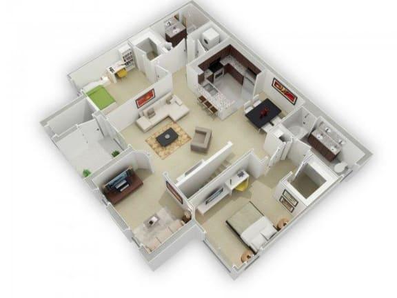 Floor Plan  The Plumleigh Floorplan at Algonquin Square Apartment Homes, Algonquin, IL 60102