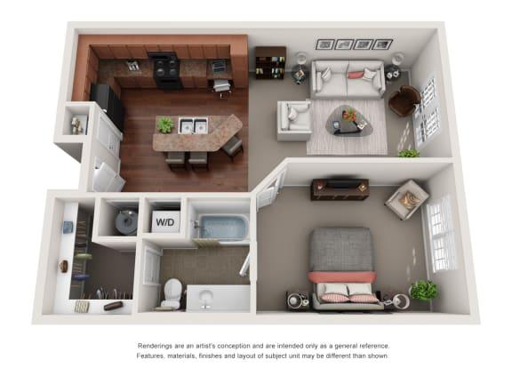 Floor Plan  Wellesley A3D