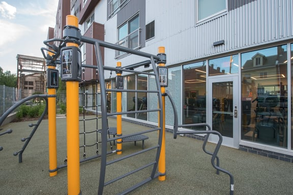 Outdoor Gym The Foundry at 41st New Apartments, Lawrenceville 15201