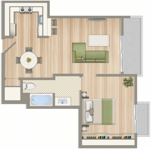 Floor Plan  CA_SantaMonica_1422on7th_p0546771_1b1bmodA_2_FloorPlan
