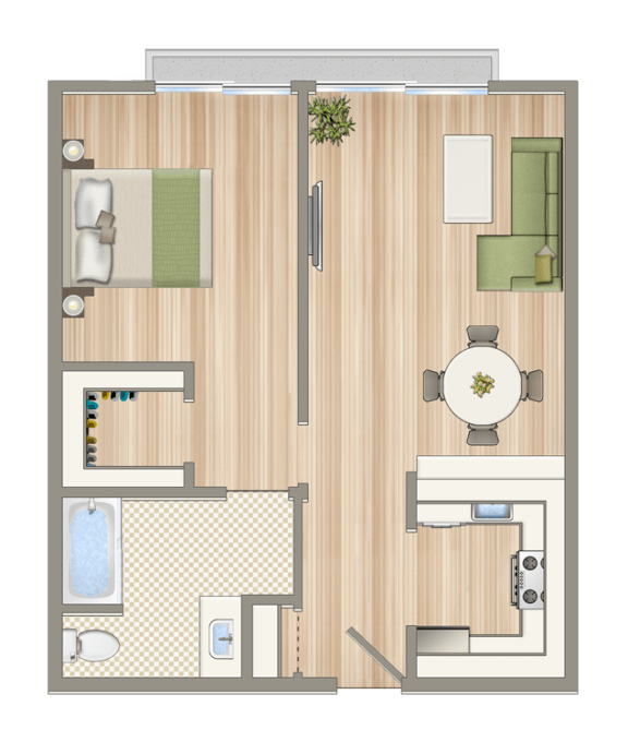 Floor Plan  Luxe@1422_7th_unit_D3