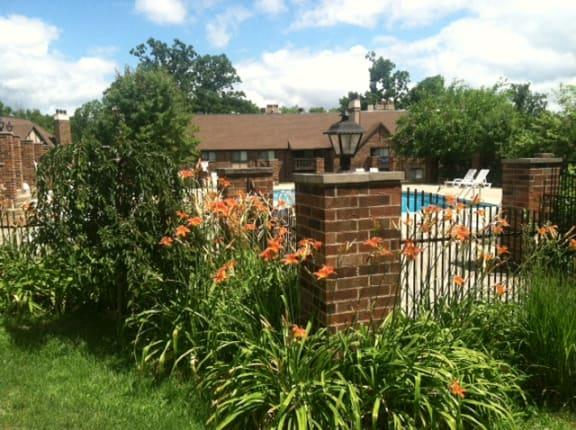 Blooming Garden at Candlewyck Apartments, Michigan