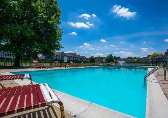 Blue Cool Swimming Pool at Country Lake Townhomes, Indianapolis, IN, 46229