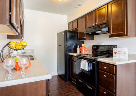 All Electric Kitchen at Hamilton Square Apartments, Westfield, 46074