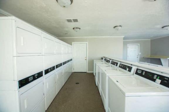 Bright Laundry Room at Lake Camelot Apartments, Indiana, 46268