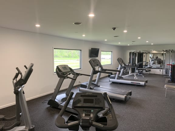 Fitness Center With Modern Equipment at Pickwick Farms Apartments, Indianapolis, IN, 46260