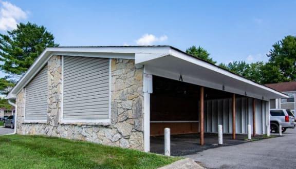 Garage at Sandstone Court Apartments, Indiana