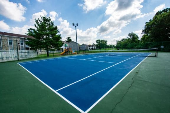 Tennis Court at Sandstone Court Apartments, Indiana