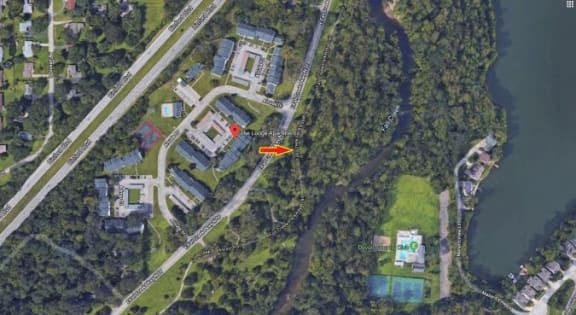 Satellite View Of Property at The Lodge Apartments, Indianapolis, 46205