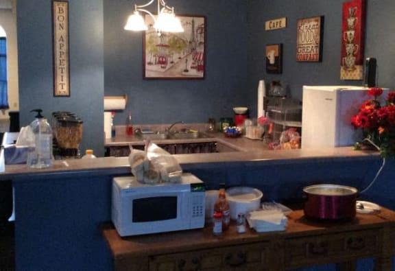 Decorated kitchen at Walnut Creek Apartments, Kokomo, 46902