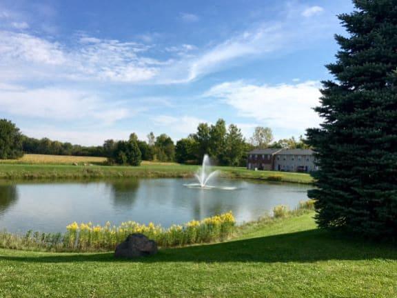 Stocked Fishing Pond at Walnut Creek Apartments, Indiana, 46902