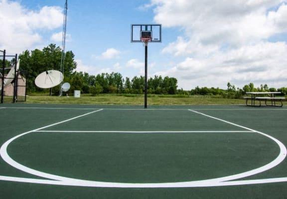 Full Outdoor Basketball Court at Walnut Creek Apartments, Kokomo, IN