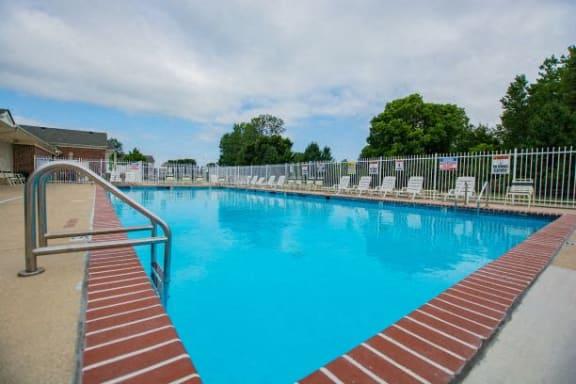 Poolside Sundeck at Walnut Creek Apartments, Indiana, 46902