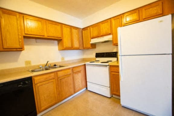 Efficient Appliances In Kitchen at Waterstone Place Apartments, Indianapolis, IN, 46229