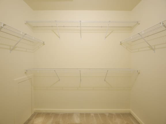 Extra large closet space