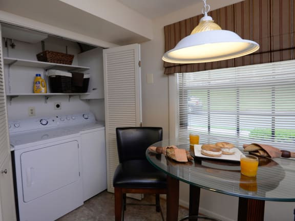 Washer and dryer included in every Chapel Valley Townhome