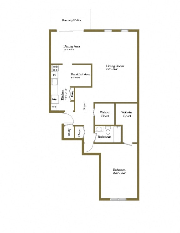 Charlesgate 1 Bedroom Apartment