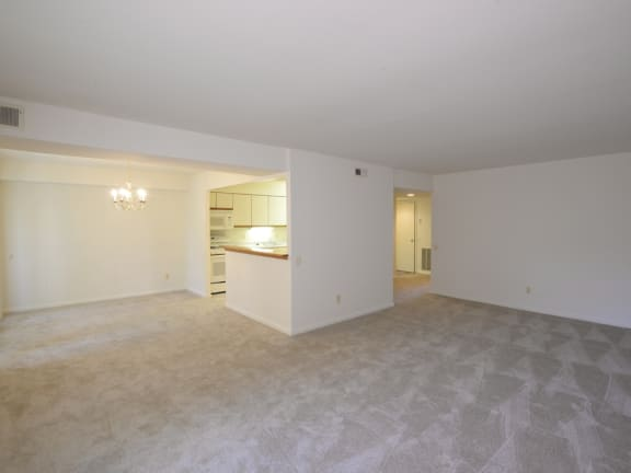 Plush carpeting in every room at Charlesgate Apartments in Towson MD